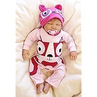 Pursue Baby Well Sleep Lifelike Poseableベビーガール人形デイジー、20インチ3 / 4ソフトビニールリアルなWeighted新生児赤ちゃん人形with Hair