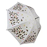 耐風 ゴルフ傘 レディース UV加工 晴雨兼用 親骨65cm 展開時直径109cm (ツリー&バード)