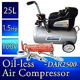 オイルレスエアーコンプレッサー 25L DAR2500