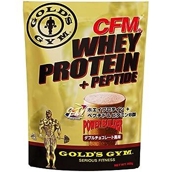 GOLD'S GYM(ゴールドジム) CFMホエイプロテイン+ホエイペプチド&ビタミンB群 (ダブルチョコレート, 900g)