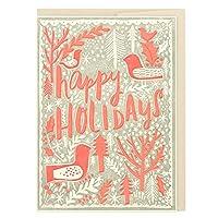ハローラッキー クリスマスカード HL1106 森の中の鳥