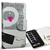 スマコレ ploom TECH プルームテック 専用 レザーケース 手帳型 タバコ ケース カバー 合皮 ケース カバー 収納 プルームケース デザイン 革 ラブリー ラブ 001536