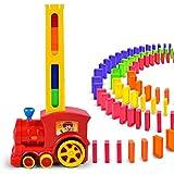 keebgyy ドミノ ラリー 電車玩具 ドミノ エレクトリックゲーム玩具 サウンドとライト付き 自動ペンデュラムチェスピース 誕生日プレゼント 子供 キッズ ボーイズ ガールズ onesize レッド WI4HT01838911U