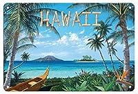 22cm x 30cmヴィンテージハワイアンティンサイン - - ペイントされた元の色からのものです によって作成された スコット・ウエストモアランド