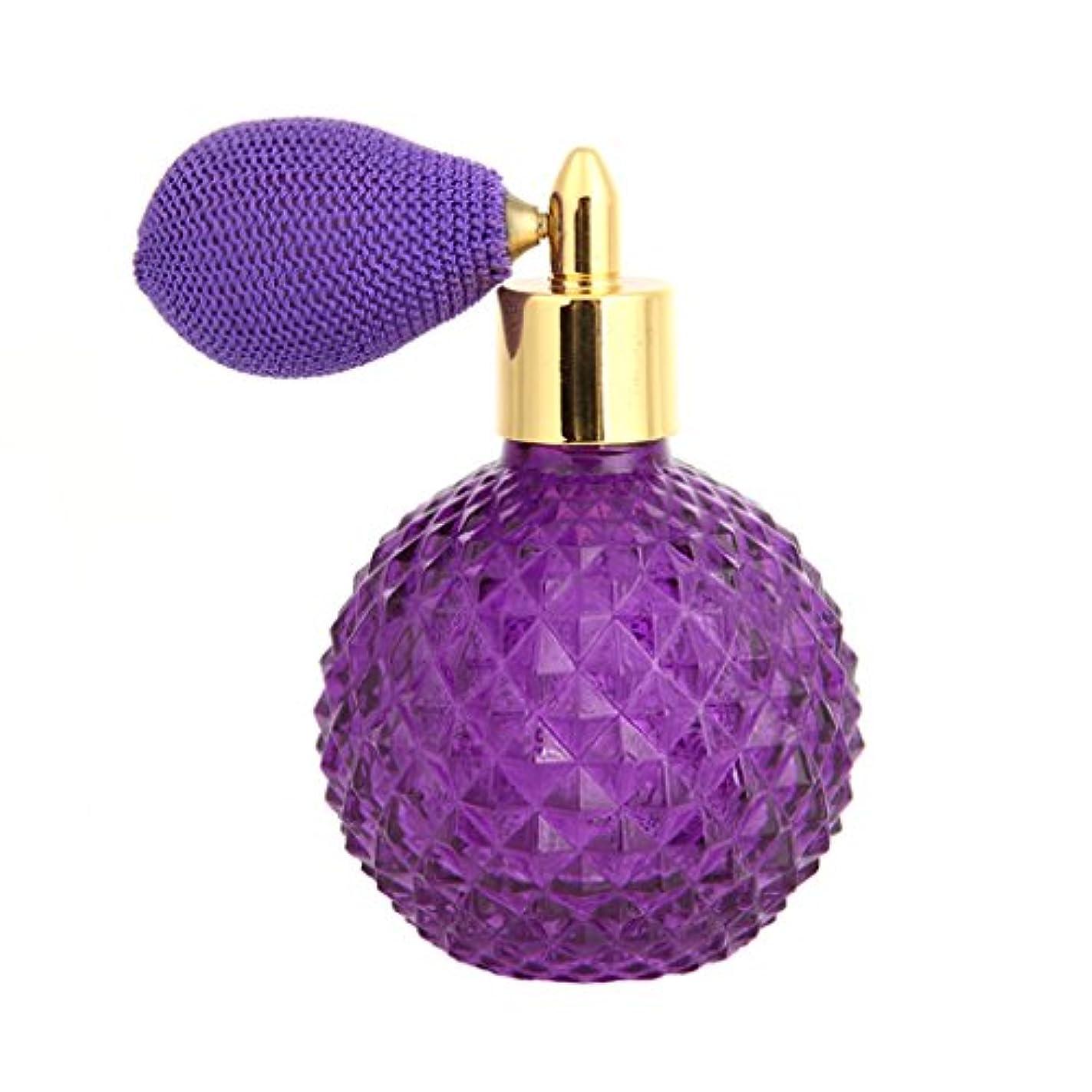 胃ブラウス与えるDabixx 女性ヴィンテージ香水瓶ショートスプレーアトマイザー詰め替え空のグラス100ミリリットル - 紫の