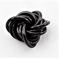 M?bii? Onyx: Small Mobius Hand Fidget Toy Shiny Black Stress Ball for Restless Hands Office Toy [並行輸入品]