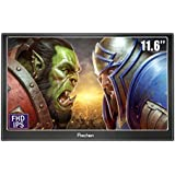 Prechen 11.6 Inch 1920X1080 IPS Portable Gaming Monitor VGA HDMI Compatible for PS3 PS4 Xbox360 Raspberry Pi 3 2 1 /Windows 7 8 10,Bulit in Speakers