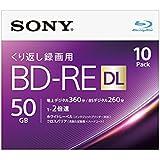 SONY ビデオ用ブルーレイディスク 10BNE2VJPS2(BD-RE2層:2倍速 10枚パック)