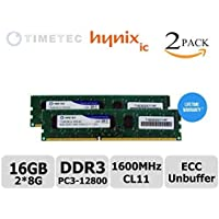 TimetecR 16GB KIT (2*8GB) Module Dual Rank PC3-12800 DDR3-1600(CL11) 2Rx8 240-Pin 1.35V Unbuffer DIMM ECC Server Workstation Memory Upgrade (p/n 71HN16EUL2R8-8G), Server Premier Hynix RAM Chip for Lenovo: ThinkStation E31, E32, P300 Tower / SFF. IBM - System x3100 M4 2582-xxx, x3250 M4 2583-xxx, Intel: DX79SI Motherboard, DX79SR, DX79TO, P4304BT, P4304BTLSFCNR, P4304BTSSFCNR Server System and more - lifetime Warranty (16GB Kit (2*8GB)) by Timetec [並行輸入品]