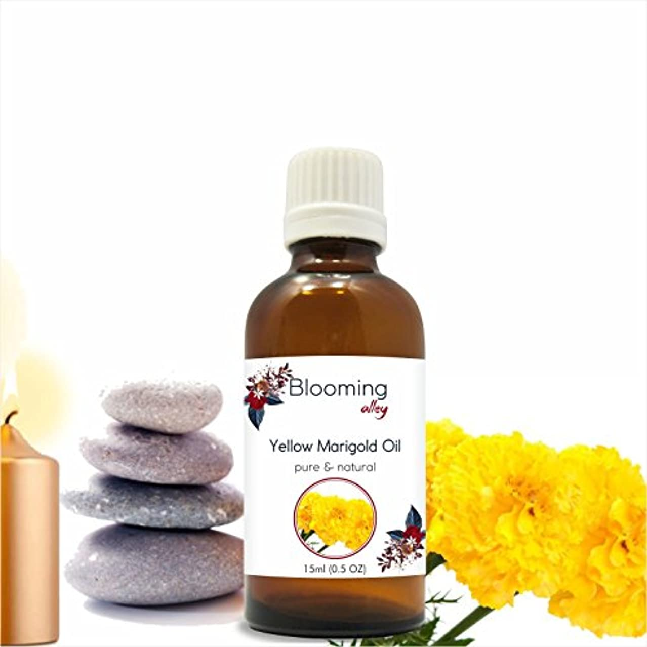 出発するどんなときもしっとりYellowmarigold Oil(Calendula Officinalis) Essential Oil 15 ml or .50 Fl Oz by Blooming Alley