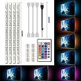 シンプポーム LEDテープライト RGB LEDテレビのUSBバックライト 部屋照明 HDTV PC高輝度テープライト 強粘着両面テープ仕様 リモコン付き カラフル-50cm×4本