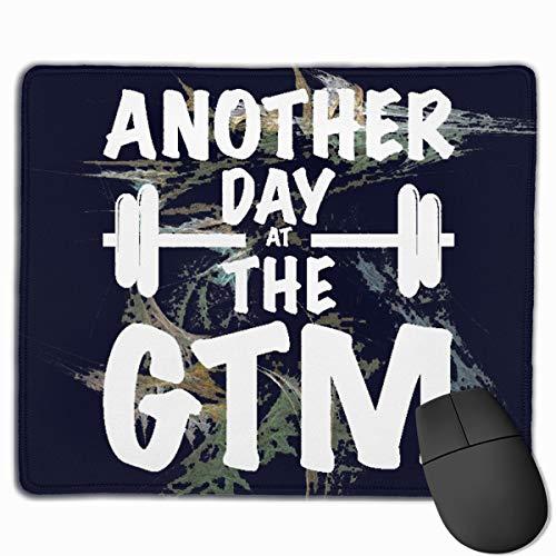ANOTHER DAY AT THE GYM フィットネス運動 マウスパッド ホームオフィス オフィス ゲーム用 疲労軽減 滑り止め 耐久性に優れ 手汗防止 耐洗い デザイン 25 * 30cm