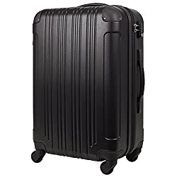 スーツケース (Sサイズ(3~5泊 47(拡張時56)L), ブラック)