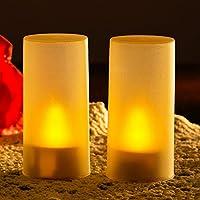 【LED キャンドルライト 充電式 揺れる】心地よい光が溢れ出す 「魅力的なLEDキャンドルライト(6個セット)」 連続8時間使用可能_ゆらめく炎_火事防止_安全安心