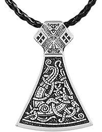 3pcs Norse Vikings Legendary Mammen Large Axe Sekiraバイキング北欧TalismanペンダントネックレスViking Mammen