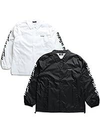 【Z18PJ04-1】 ゼファレン Zephyren アウター コーチジャケット 長袖 かっこいい バンダナ 刺繍 袖プリント アメカジ 正規品 白 黒紺