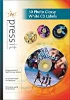 PressIT Labels Photo Glossy/White 30pk
