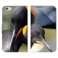 動物2 手帳型 ベルト無し iPhone SE iPhoneSE (QB003001_05) ペンギン 親子 可愛い 癒し スマホケース アイフォン 各社共通
