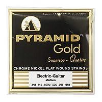 PYRAMID STRINGS EG Gold 011-048 フラットワウンド エレキギター弦×3セット