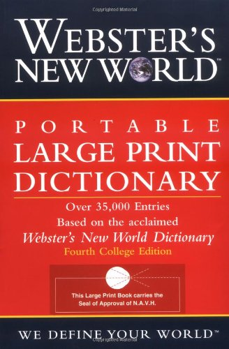 Download Webster's New World Portable Large Print Dictionary, Second Edition 0764564919