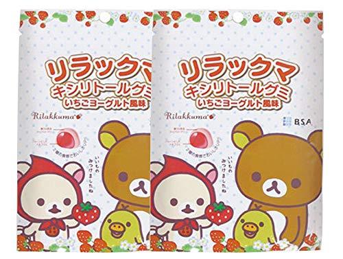 リラックマ キシリトールグミ いちごヨーグルト風味 1袋(12粒入) × 2袋