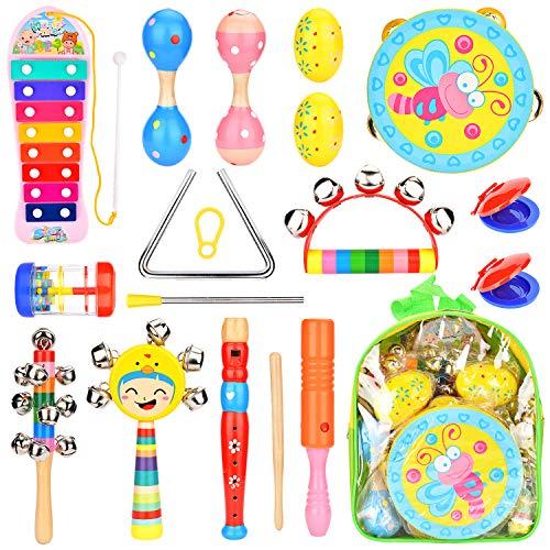 楽器おもちゃ BATTOP 赤ちゃん 子供用 16点 打楽器...