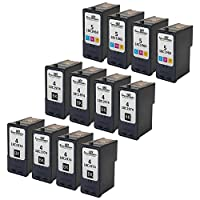Speedy Inks - Remanufactured Lexmark #4 (18C1974) Black & #5 (18C1960) Color Ink Cartridges For Lexmark X2690, X4690, X5690, Z2390, and Z2490 Printers: 8 Black 4 Color [並行輸入品]