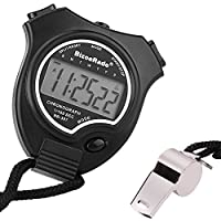 Stopwatch with Whistle,BizoeRade Coach Digital Stopwatches Timer with Large Display for Sports Training