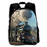 子供用スクールバックパック 列車 男の子 女の子用バッグ 11x6.3x17inches Backpack89-4930