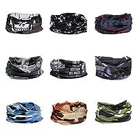 Headwear、peiaoヘッドラップスポーツヘッドバンド汗止めバンド220パターンマジックスカーフ9ピース12in