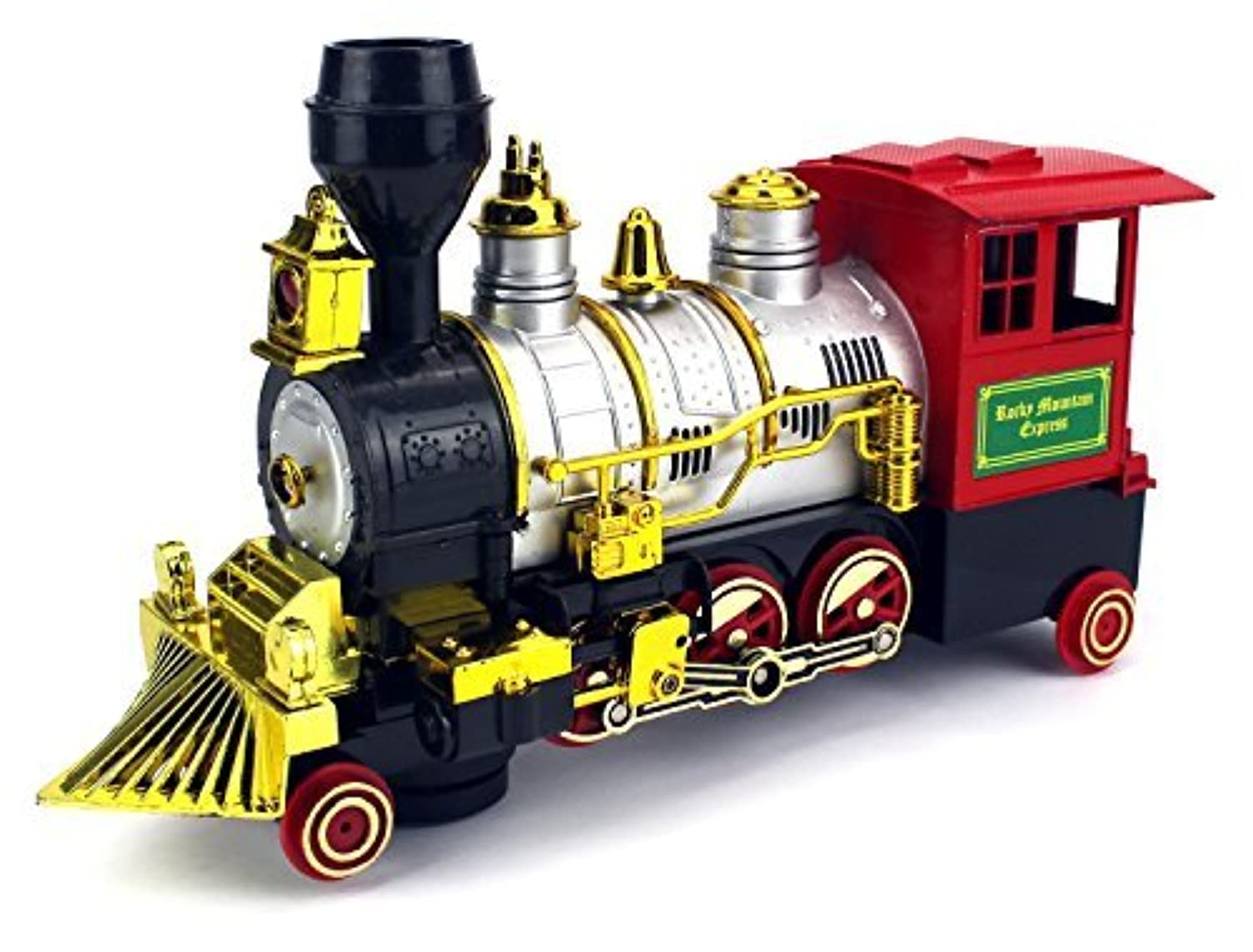 Rocky Mountain Battery Operated Children Kid's Bump and Go Toy Train w/ Real Train Smoke & Horn, Working Headlight [並行輸入品]