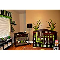 DK Leigh Nursery Crib Bedding Set, Frog, 10 Count, Green/Brown/Lime Green/White by DK LEIGH