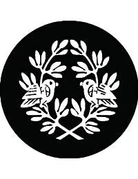 家紋シール 抱き寓生に対い鳩紋 布タイプ 直径40mm 6枚セット NS4-2864