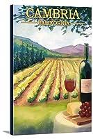 Cambria、カリフォルニア–ワインカントリー 12 x 18 Gallery Canvas LANT-3P-SC-36743-12x18