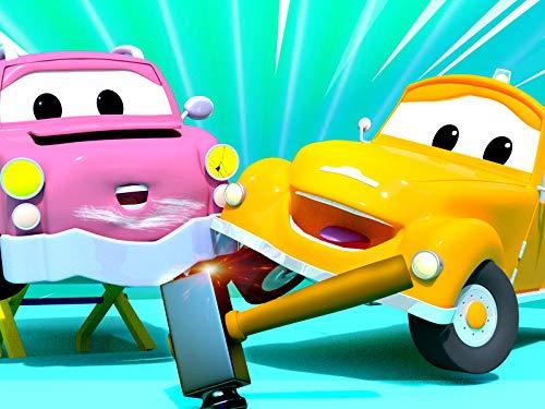 【新放送!】 夏特別編 - たこの飛ばし方/クレーン車のチャーリーのフックに強力マグネット / ブルドーザーのビリーの車輪に岩が挟まる