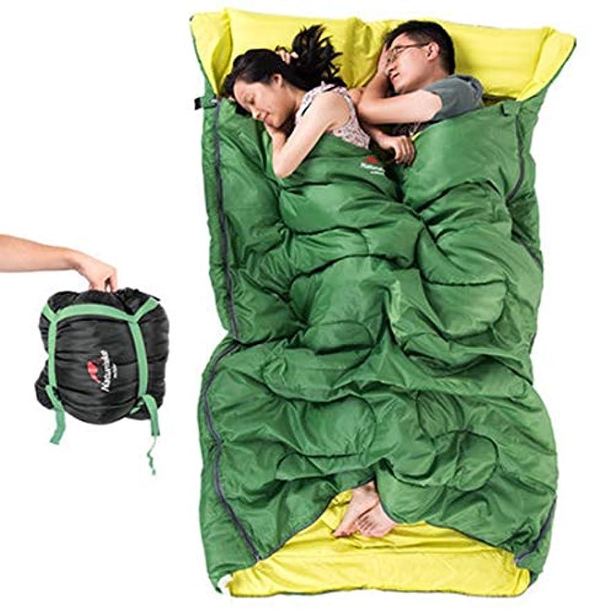 アーティキュレーション堤防ワックスYIJUPIN 2人用薄型寝袋アウトドアトラベル4シーズンライナーキャンプコットンワイド化と厚い寝袋/グリーン (色 : オレンジ)