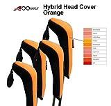 h10ゴルフハイブリッドヘッドカバーのセット4個ブラック/オレンジ( forハイブリッド、Not for wood )