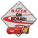 "Disney/PIXAR ""cars2"" ""LITTLE RACER ON BOARD""(BABY ON BOARD / BABY IN CAR) LIGHTNING McQUEEN ディズニー/ピクサー「カーズ2」 「リトルレーサー・オン・ボード」(ベビー・オン・ボード / ベビー・イン・カー) ライトニング・マックイーン 吸盤 [並行輸入品]"