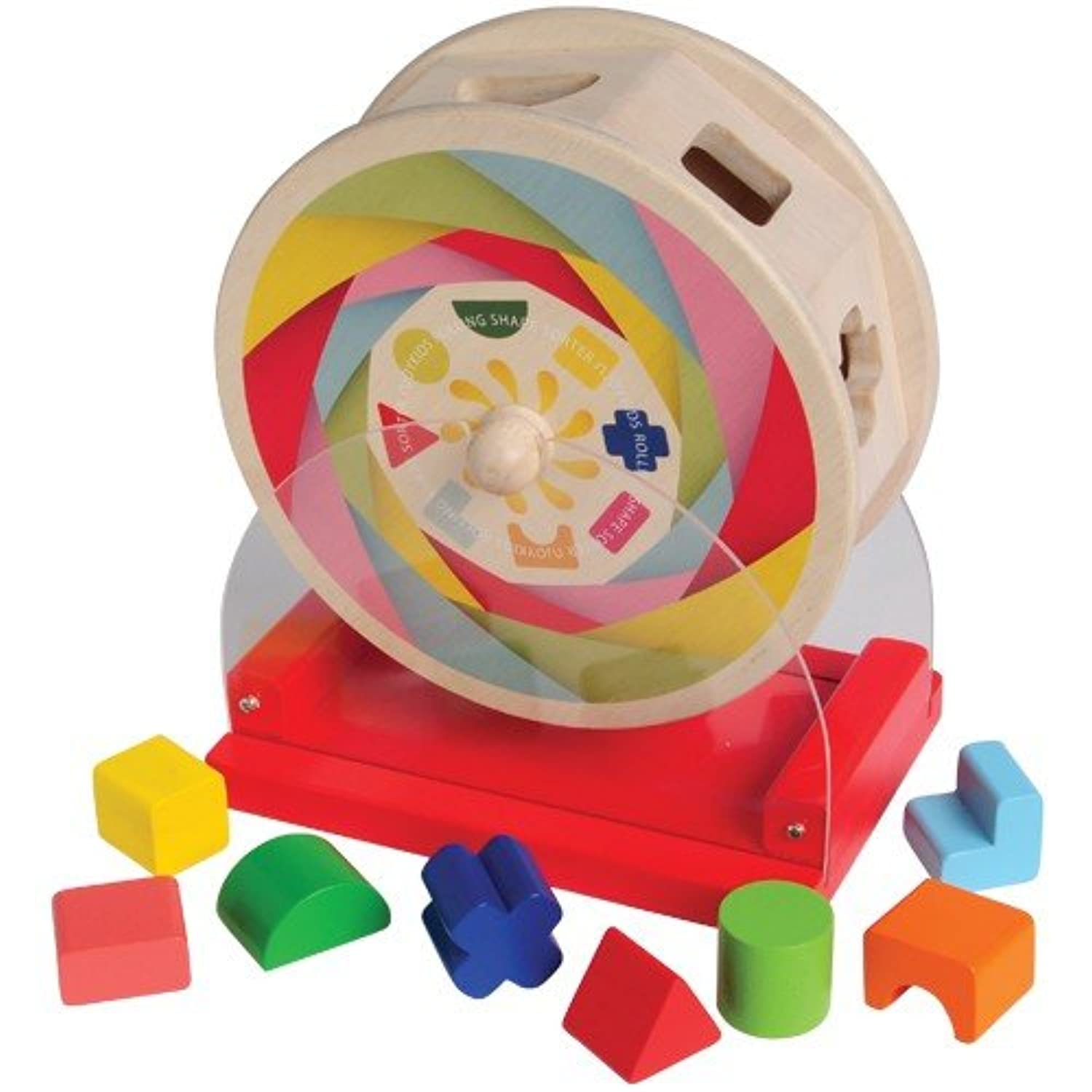 Rolling Shape Sorter with Eight Different Shaped Holes