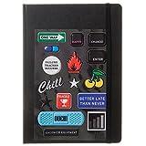 ラコニック 手帳 2018年 3月始まり ウィークリー B6 ステッカー 黒 LIM53-230BK