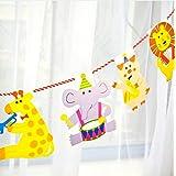 ガーランド party かわいい動物がいっぱい! 2m 15枚セット 誕生日 誕生日会 パーティー お部屋飾り 子供部屋 赤ちゃん