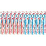 【まとめ買い用】 06-218 家族ハブラシ フラット毛先 12本セット