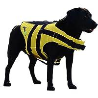 ASMPET ドッグライフジャケット ライフジャケット ハンドル付き トレーニング 犬用ライフジャケット サイズ調整可能…