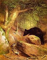 ¥5K-200k 手書き-キャンバスの油絵 - 美術大学の先生直筆 - The Disputed Way William Holbrook Beard 絵画 洋画 複製画 ウォールアートデコレーション -サイズ13