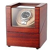 CHIYODA ワインディングマシーン ウォッチワインダー 腕時計自動巻き器 1本巻き プ マブチモーター 超静音 高級 木製 ウッドケース