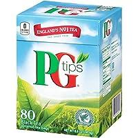 PG tips Black Tea Pyramids 80 Count ピージーティップス ピラミッドタイプ 80入り 海外直送 [並行輸入品]
