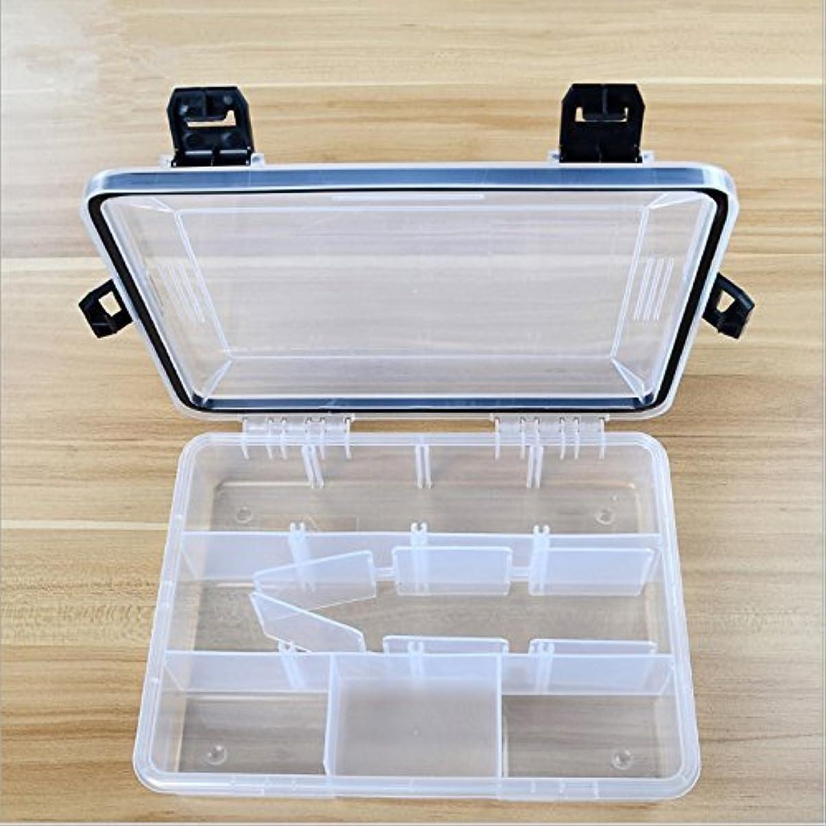 発疹クラックポット取り消すfishcm h0123 C釣りルアーボックス、調節可能なプラスチックフックタックルボックスストレージケースオーガナイザー