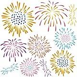 夏☆シール式ウォールステッカー summer 夏休み 祭り ひまわり 海 太陽 SURF 飾り 90×90cm 剥がせる カッティングシート wall sticker 雑貨 ガラス 窓 花火 祭り fireworks 016963