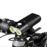 Gaciron自転車ライトフロントUSB充電式、1600ルーメン明るいフロントライト防水、50...