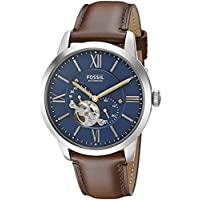 Fossil Men's Townsman Analog Automatic Self Wind Brown Watch, (ME3110)